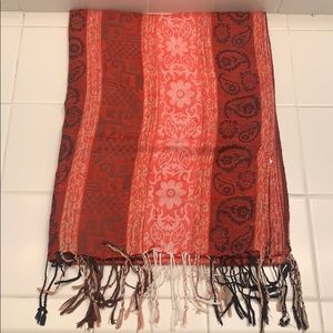 Red Prints Scarf